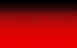 Black and red dotted halftone background. Bright black and red abstract dotted background. Halftone effect. Vector illustration Stock Images
