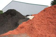 Black and Red Dye Mulch stock photo