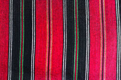Black and red fabric texture. Cloth Stock Photo