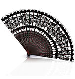 Black and red fan Stock Photo