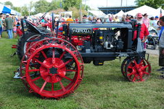 1925 Black and Red Farmall antique farming tractor. Royalty Free Stock Photos