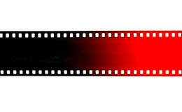 Black and red film strip on white background Stock Image
