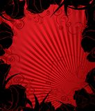 Black and red floral background Royalty Free Stock Image