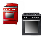 Black and red gas cooker Stock Photography