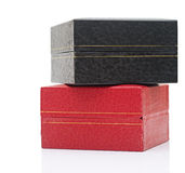 Black and red gift boxes Royalty Free Stock Photo