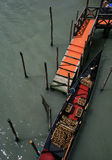 Black and red gondola in Venice Stock Photos
