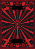 Black and red grunge background Stock Images