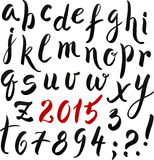 Black and red hand writing lettering alphabet Stock Photo