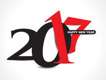 Black & red happy new year 2017 text background Stock Photo