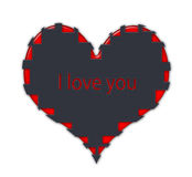 The black and red heart Royalty Free Stock Photo
