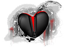 Black and red heart Stock Photo