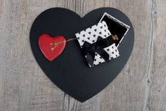 Black and red hearts with a jewel Royalty Free Stock Images