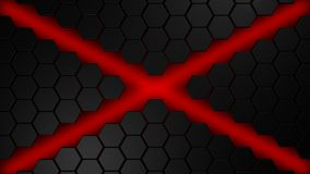 Black and red hexagons modern background. Nice black and red hexagons modern background illustration 3d render Stock Image