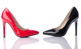 Black and red high heel shoe Royalty Free Stock Photos