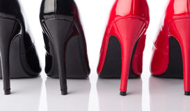 Black and red high heel shoe Royalty Free Stock Photography