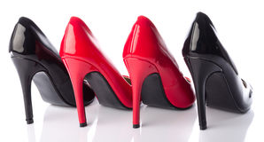 Black and red high heel shoe Royalty Free Stock Image
