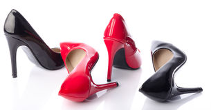 Black and red high heel shoe Royalty Free Stock Photo