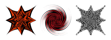 Black and Red hypnotic background. Stock Photography