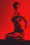 Black and red image 3d naked woman Stock Images