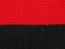 Black and red knitted fabric Royalty Free Stock Images
