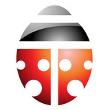 Black and Red Ladybug Icon Stock Images