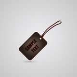 Black and red leather tag Stock Photography