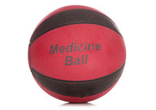 Black and red medicine ball Royalty Free Stock Photos