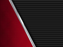 Black and red  metal backgrounds. Abstract  illustration Royalty Free Stock Images
