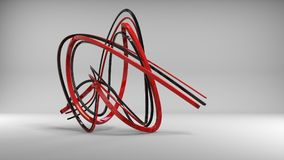Black and red metallic abstract sculpture. In studio environment Royalty Free Stock Photos