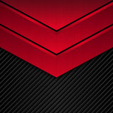 Black and red metallic background. Vector metallic banner. Abstract technology background Royalty Free Stock Photography