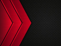 Black and red metallic background. Vector metallic banner. Abstract technology background Royalty Free Stock Photo