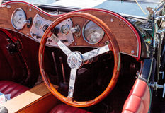 Black and Red 1947 MG TC classic car Royalty Free Stock Images
