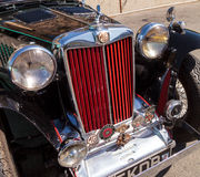 Black and Red 1947 MG TC classic car Royalty Free Stock Photos