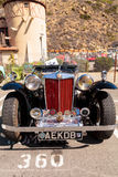 Black and Red 1947 MG TC classic car Royalty Free Stock Photo