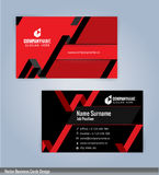 Black and Red Modern creative and clean business card Design template. Stock Photography