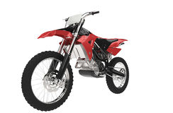 Black and Red Motocross Bike Stock Photography