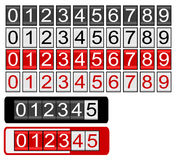 Black and Red Odometer. Odometer with black, white and red numbers Royalty Free Stock Photo