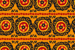 Black, red and orange traditional asian carpet Stock Image