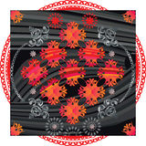 Black-red pattern. Napkin Royalty Free Stock Images