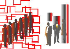 Black and red people Stock Photography