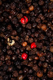Black and red peppercorns art Stock Photo