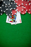 Black and red poker chips Royalty Free Stock Image
