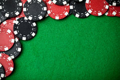 Black and red poker chips Royalty Free Stock Photo