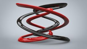 Black and red polished metal sculpture Stock Images