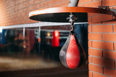 Black and red punching bag. Stock Images
