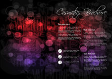 Black red purple background with Valentines day design for cosmetic brochure Stock Photography