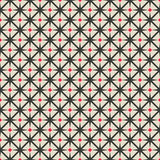 Black and red rhombus seamless geometric pattern Royalty Free Stock Photography