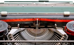 Black and Red Ribbon of an old Italian mechanical typewriter 2 Royalty Free Stock Images