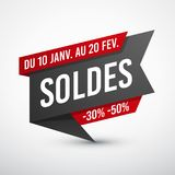 Black and red sale banner Stock Photos