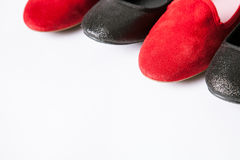Black and red shoes Royalty Free Stock Images